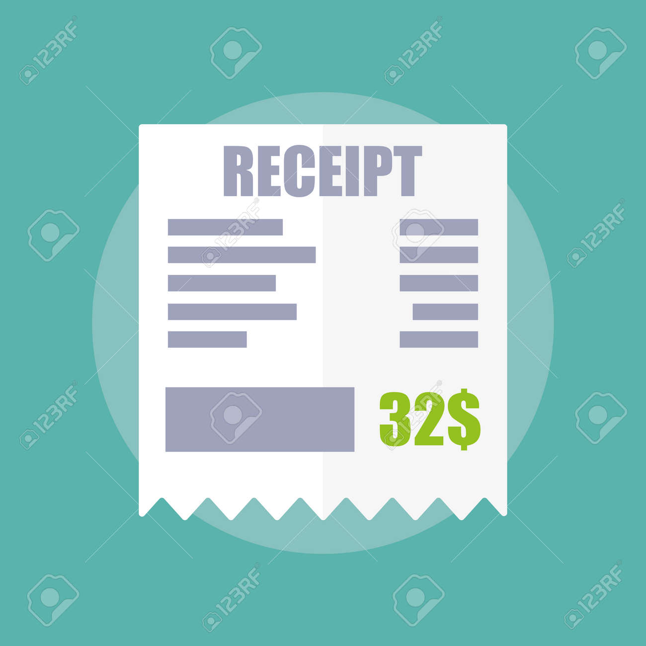 Receipt Icon Flat Design Royalty Free Cliparts Vectors And – Receipt Design