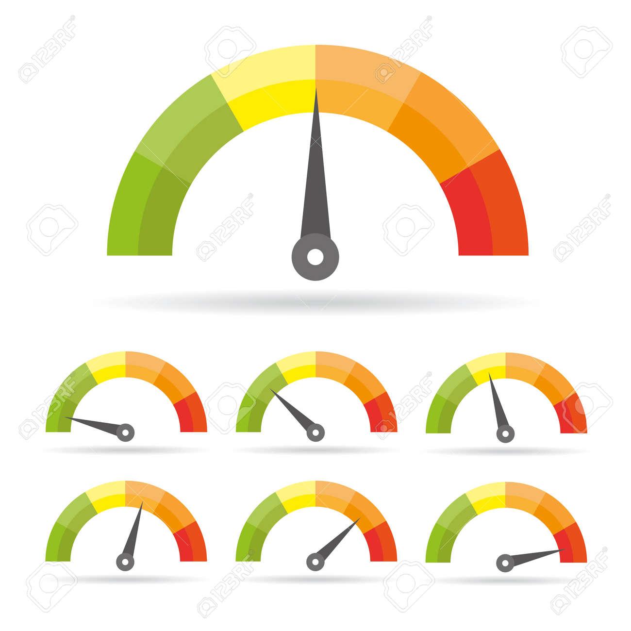 Speedometer icon. Colorful Info-graphic - 81148173