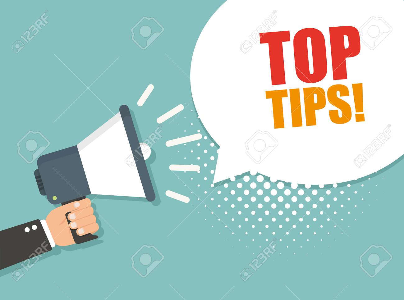 Top tips. Vector illustration - 101115193