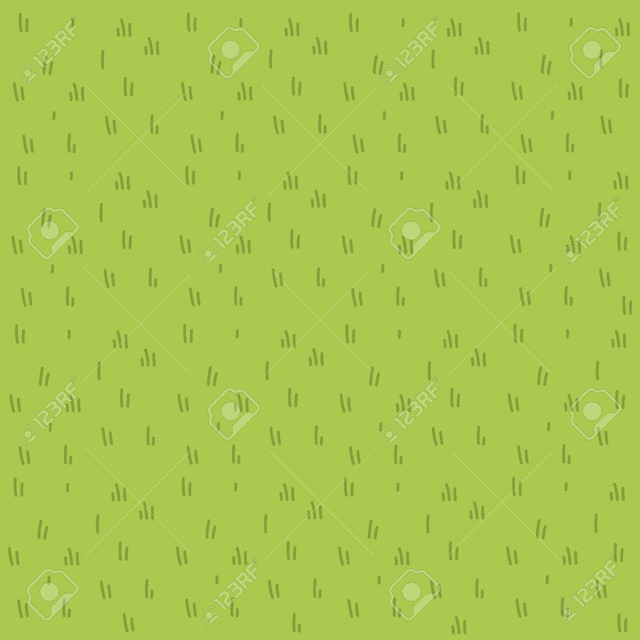 Cartoon grass vector flat pattern - 115927752