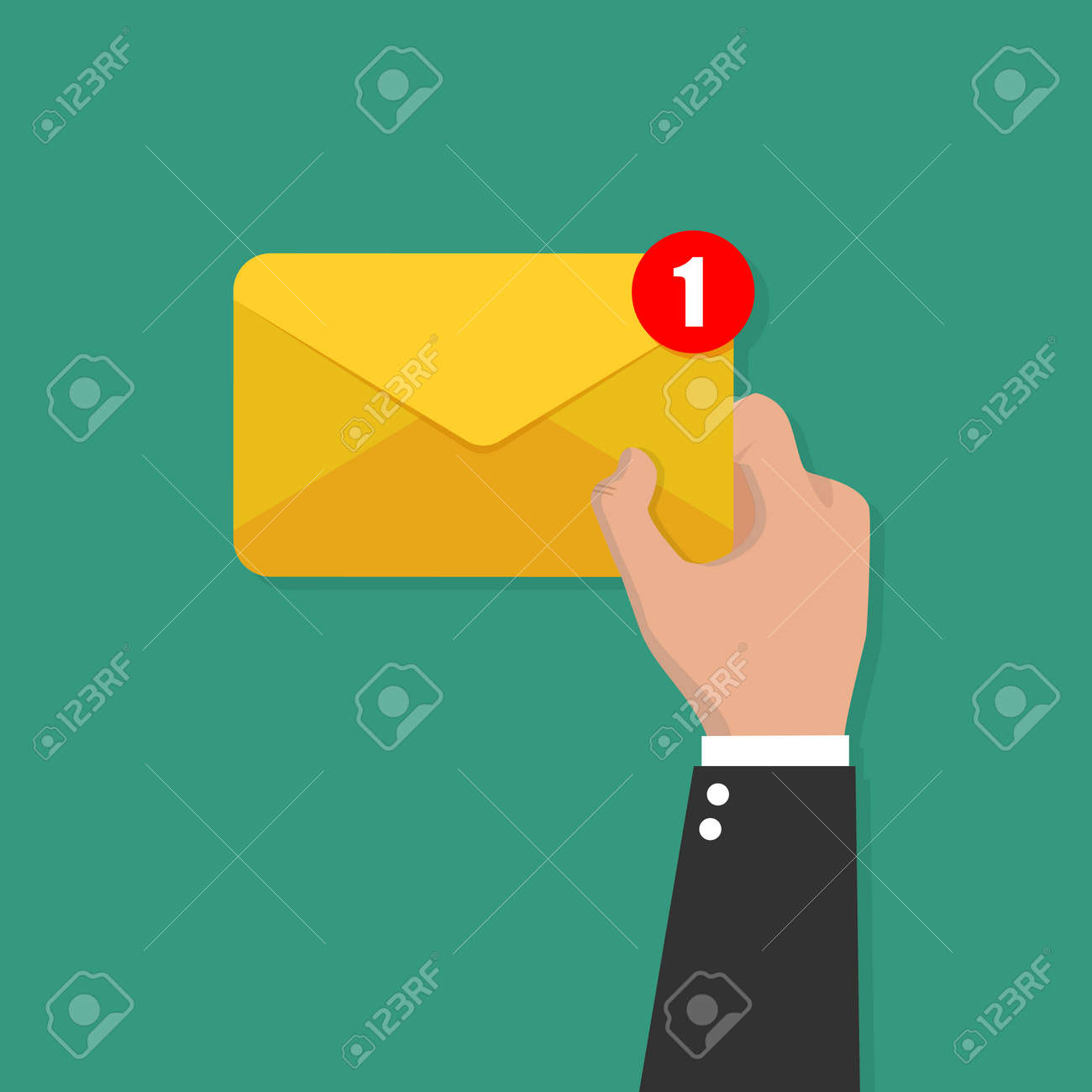Email or SMS Email and incoming messages concept vector - 120512684