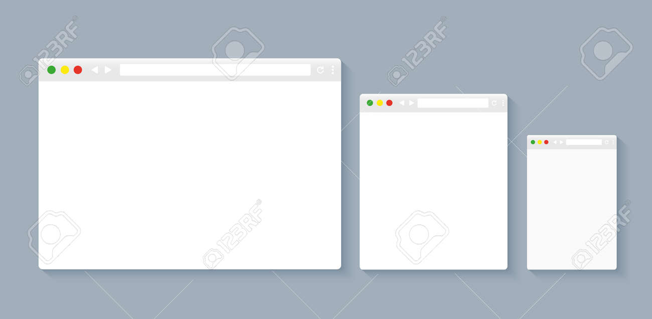 Simple browser window, flat vector illustration concept - 120906765