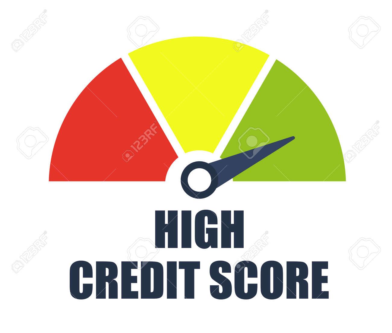High credit score. Vector illustration. - 128503475