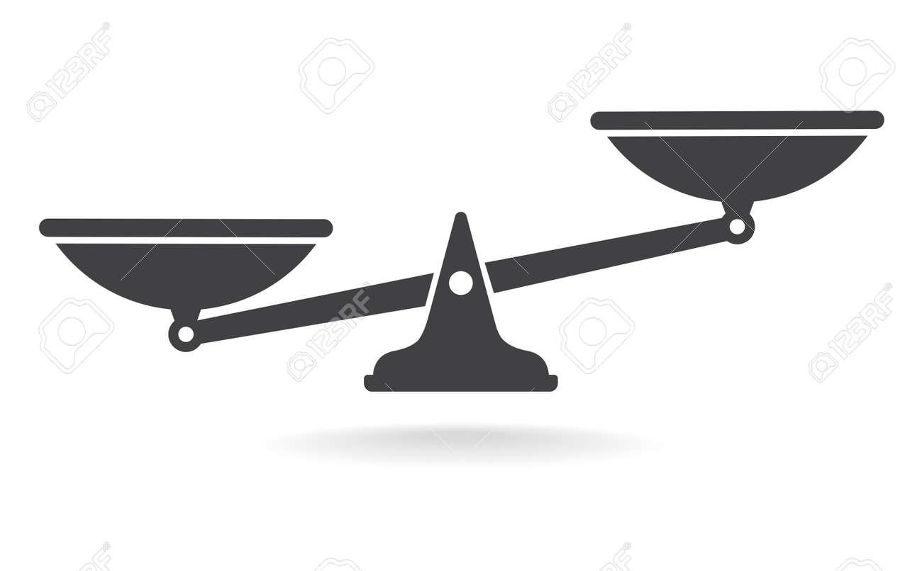 Scales, Flat design, vector illustration. Libra vector - 128503486