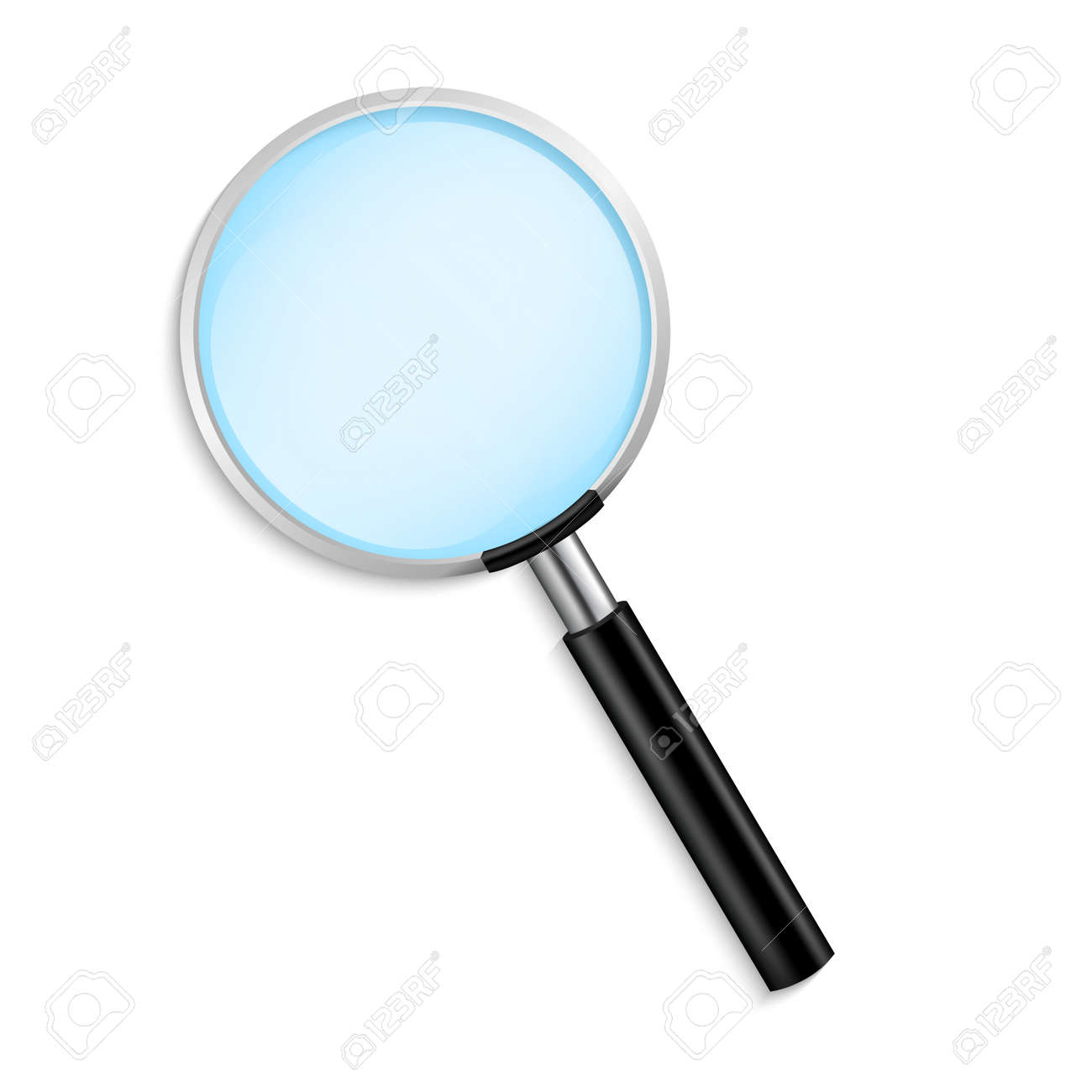 Realistic Magnifying glass vector isolated vector illustration on transparent background - 136038899