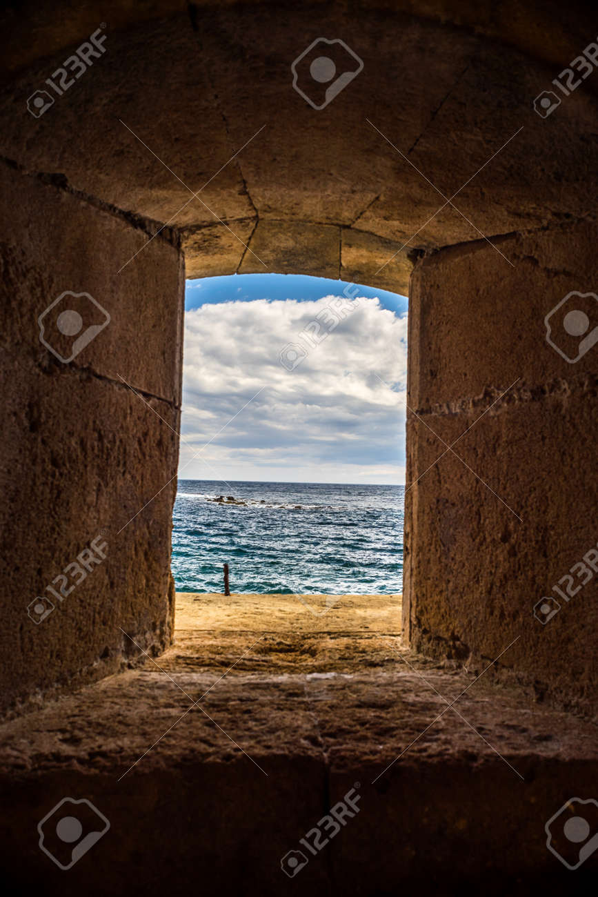 windos of fortress stock photo picture and royalty free image