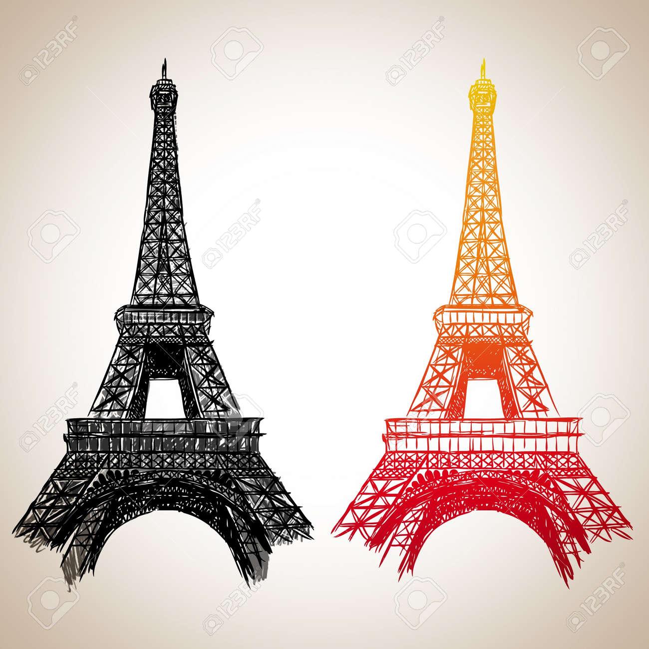 Eiffel Tower Stock Vector - 14243265