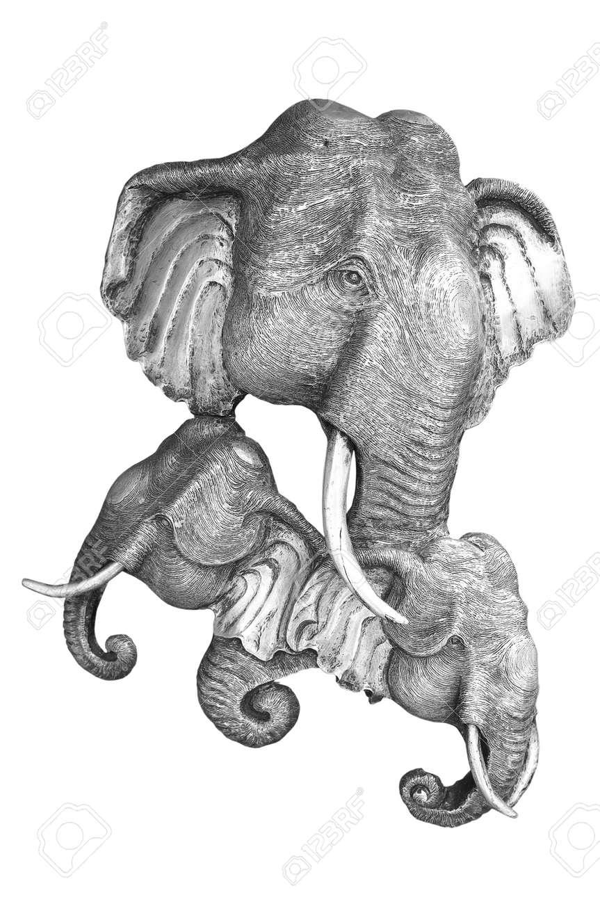 Marco De Plata Grabado De Placas De Laca Animales Muestran Elefantes ...