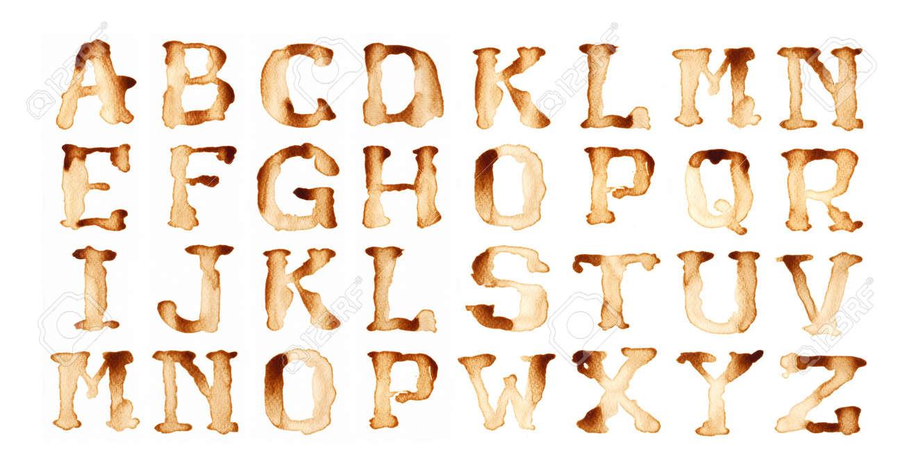 Alphabet write by coffee antique style Stock Photo - 14413522