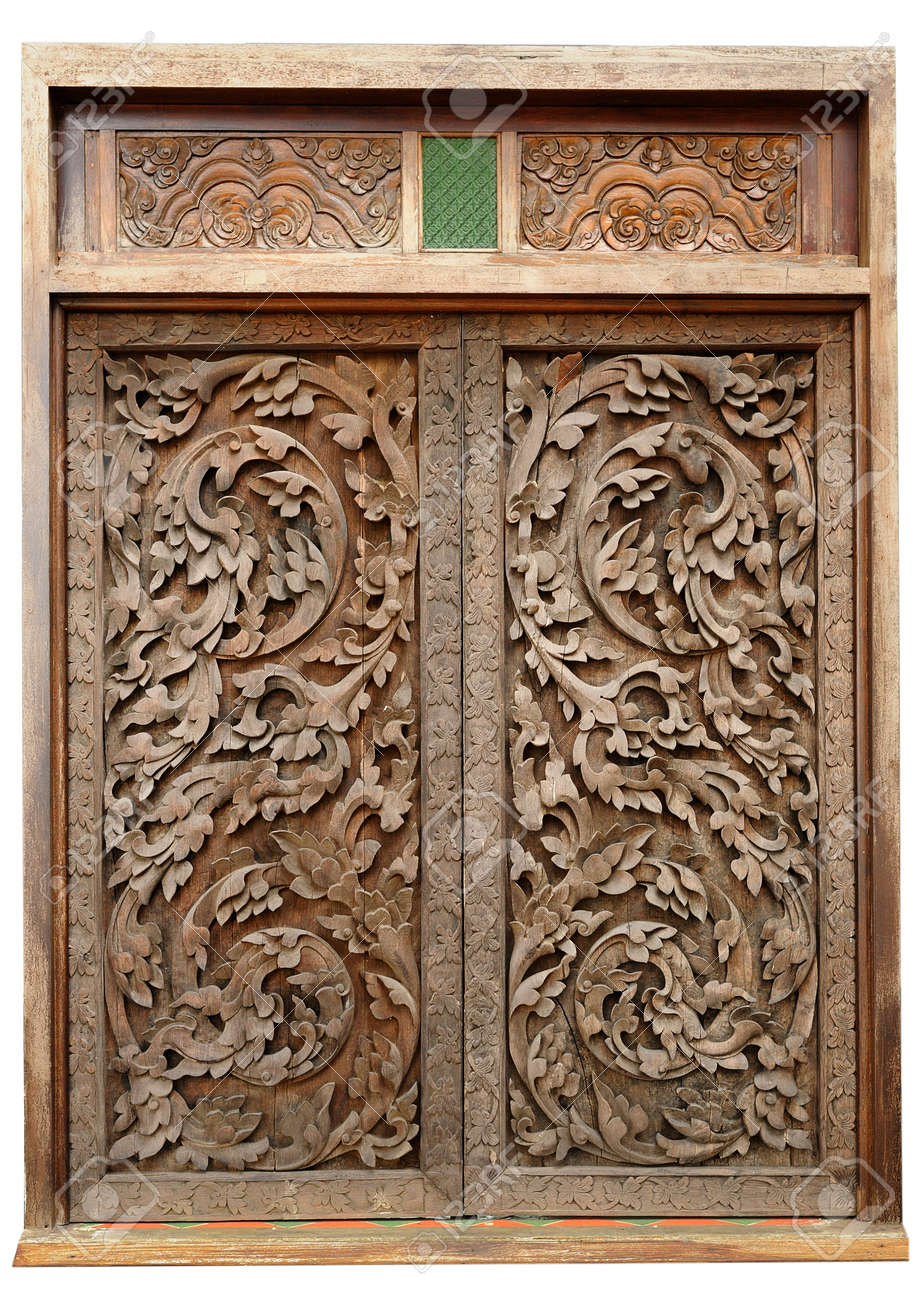 Ancient wood doors Lanna Thai style Stock Photo - 14530710 & Ancient Wood Doors Lanna Thai Style Stock Photo Picture And ... Pezcame.Com