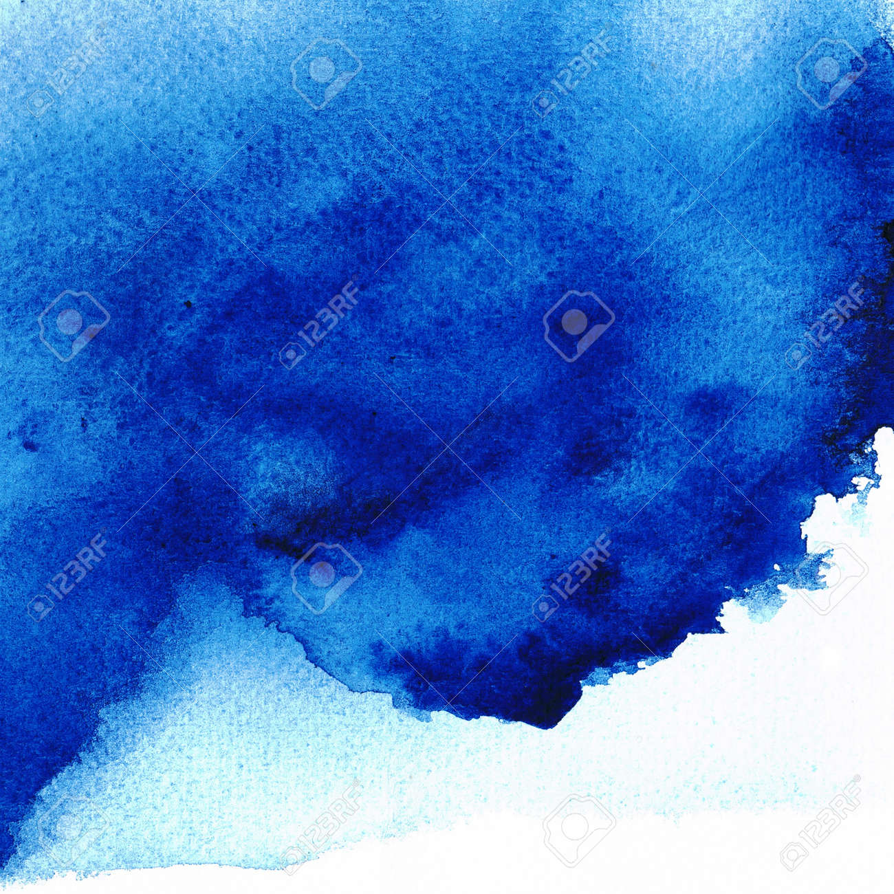 Blue Wet on wet abstract watercolors Stock Photo - 14789799