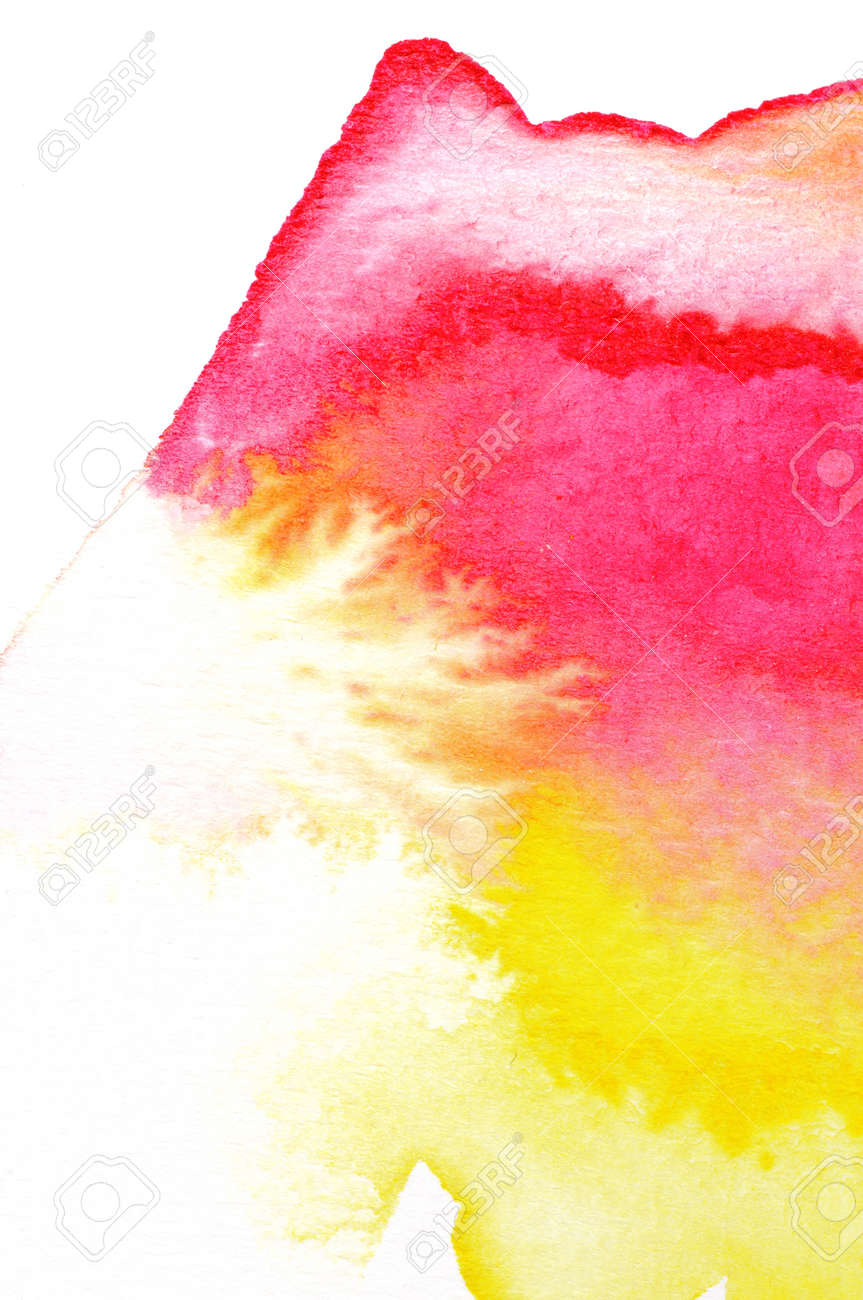 Abstract watercolors ; wet on dry paper Stock Photo - 14789794