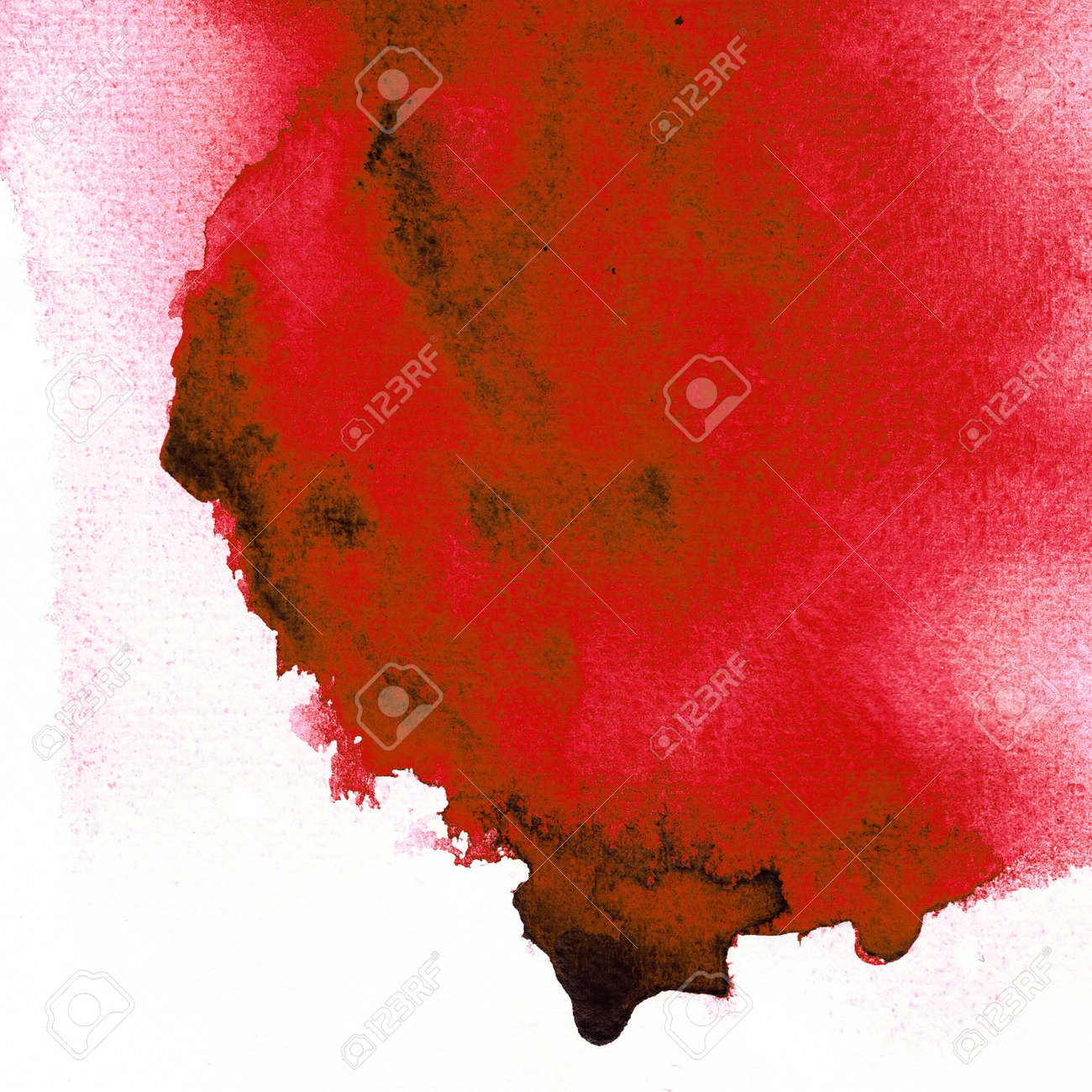 Red Wet on wet abstract watercolor Stock Photo - 14882279