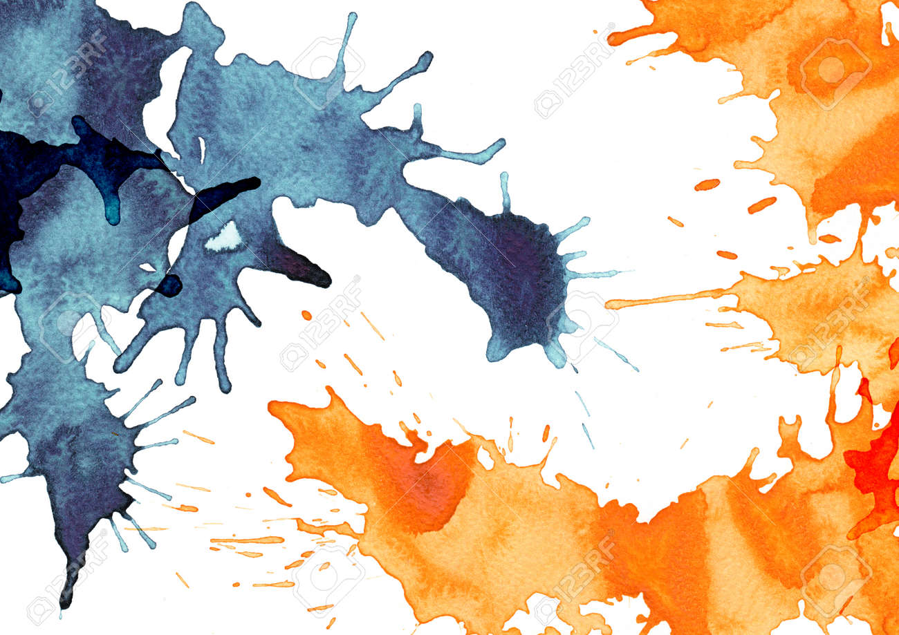 Abstract splash watercolor : illustration on paper Stock Illustration - 15044556