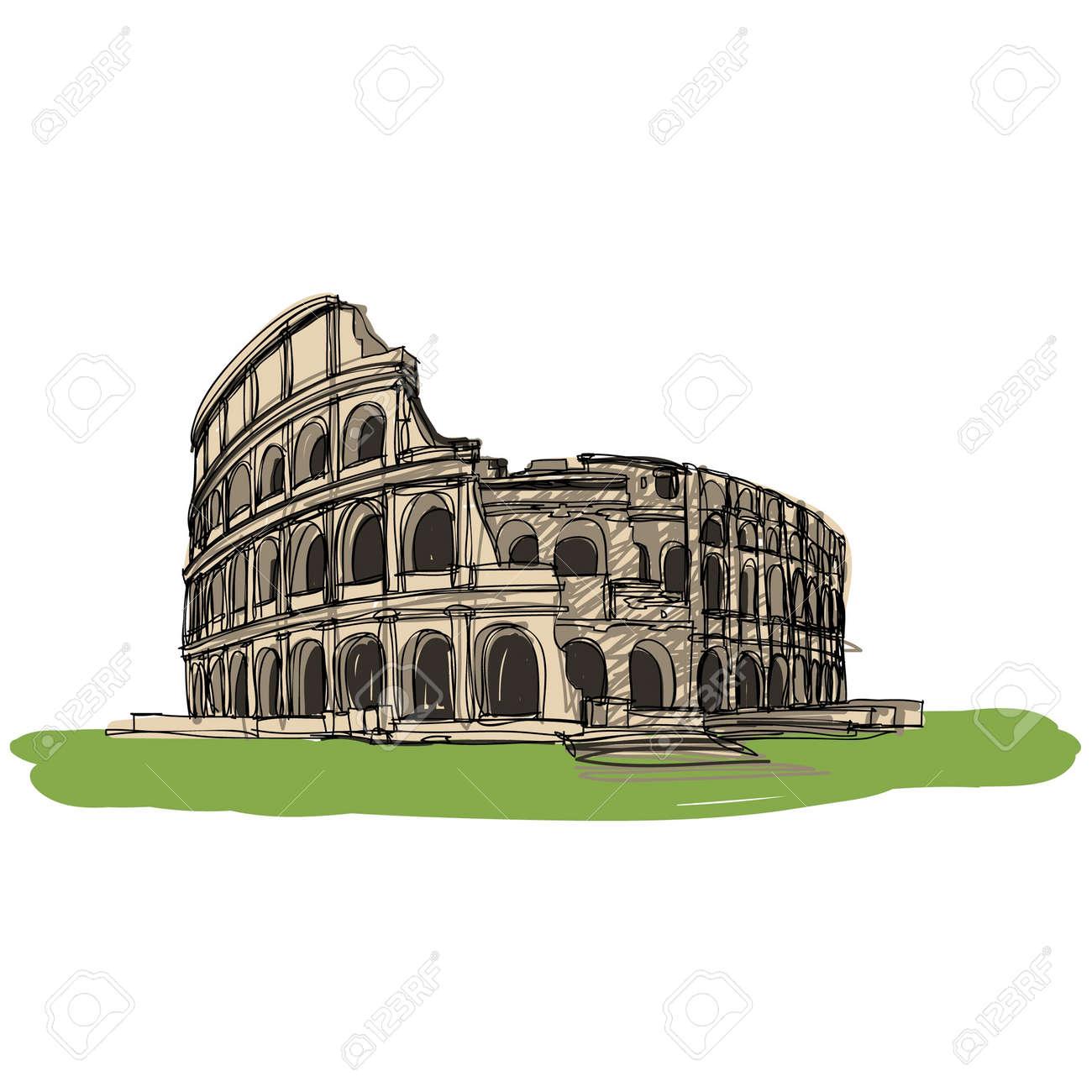 Colosseum Rome Italy sketcbook Stock Vector - 16686433