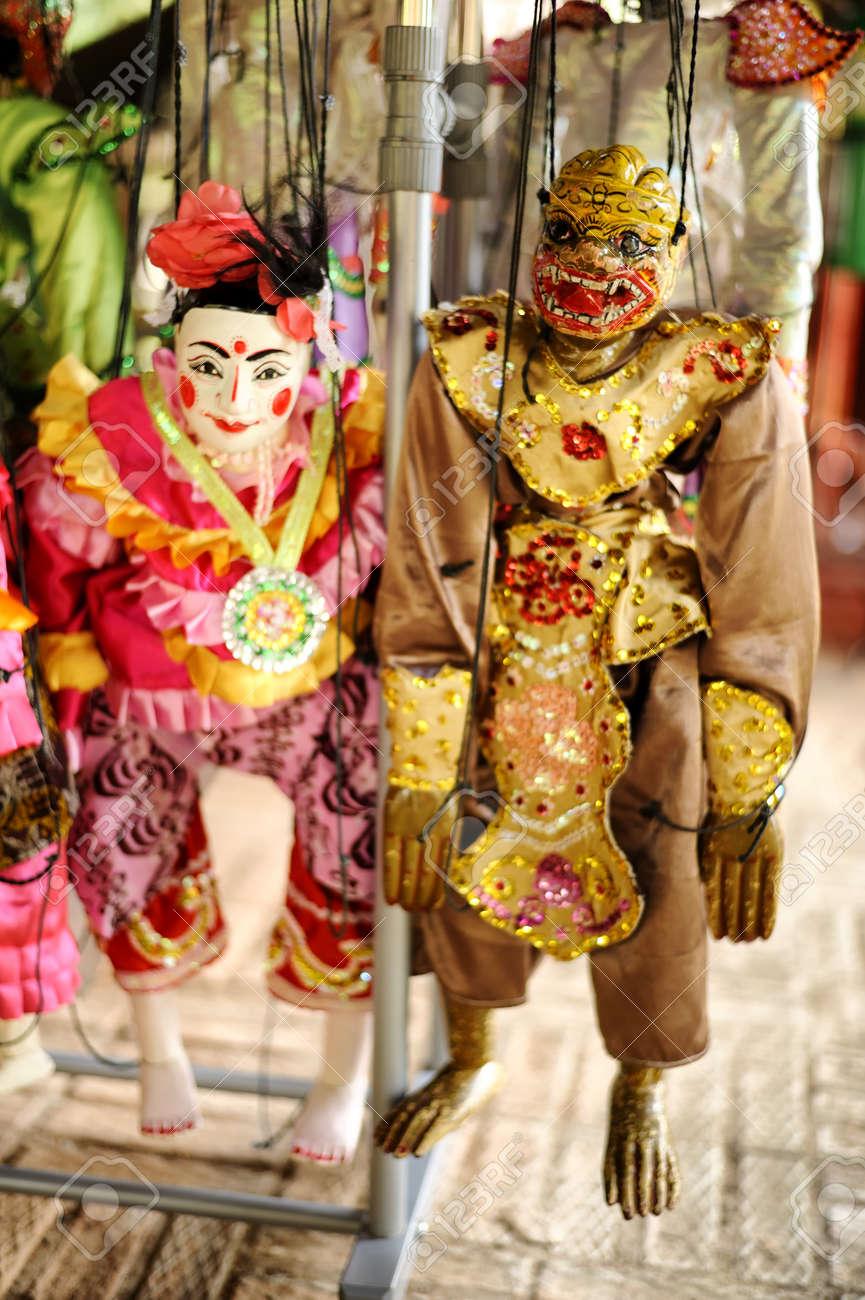 CHIANG MAI THAILAND-FEB. 23 : ASEAN Enchanting Puppets 2013.Identity Hoon sai Marionettes of Myanmar at CMU. Art Center.on FEB. 23,2013 in Chiangmai,Thailand Stock Photo - 18832851