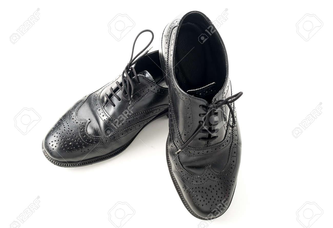 Hombre Zapatos Cuero Blanco FotosRetratos Negros Aislado De En 5q4AL3Rj
