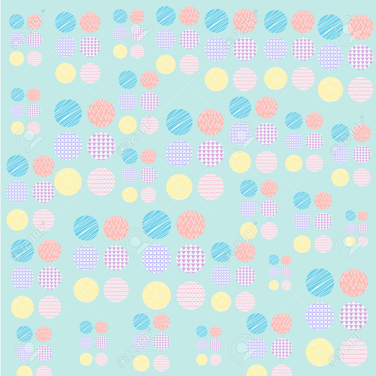 Stock Photo - Vector of Circle pattern pastel design wallpaper