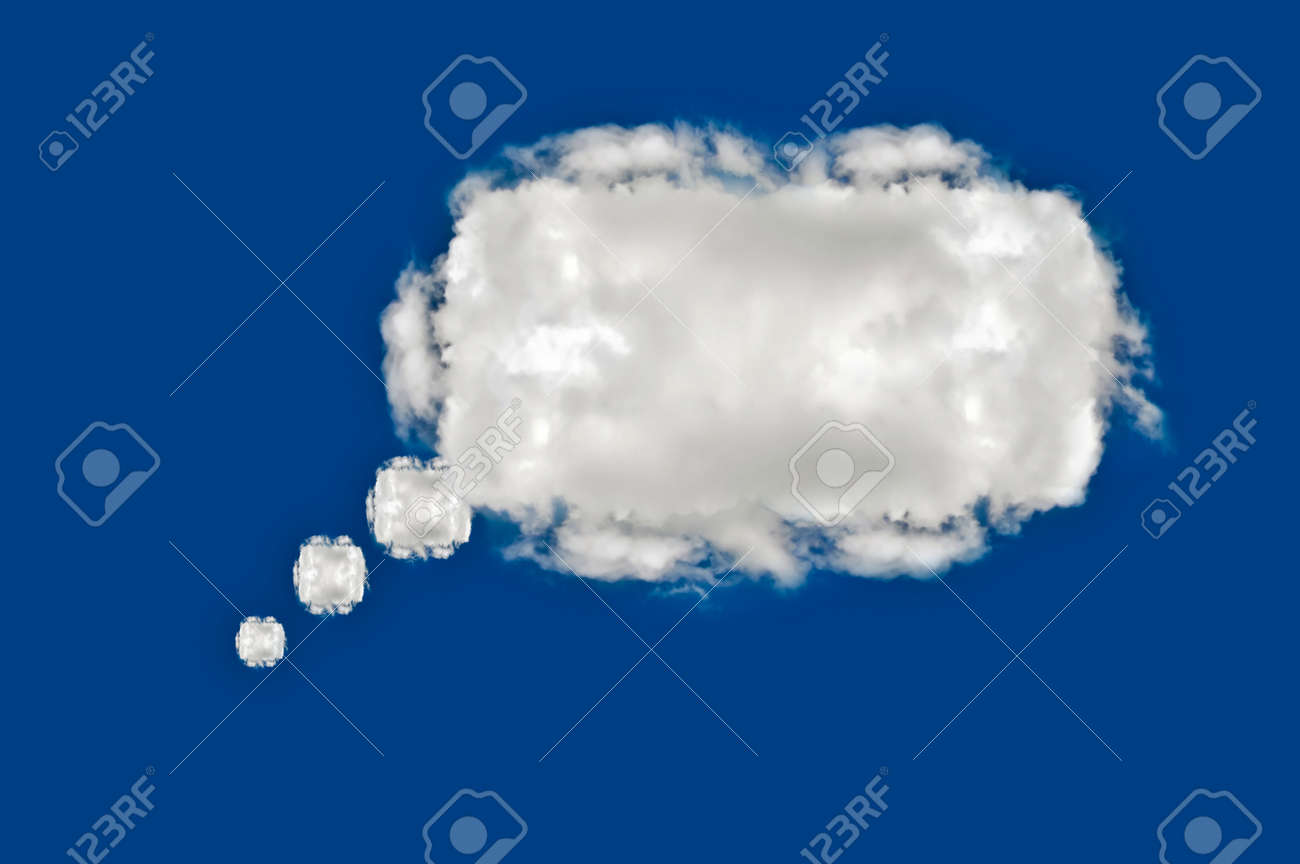 cloud on blue background,idea box Stock Photo - 15115658