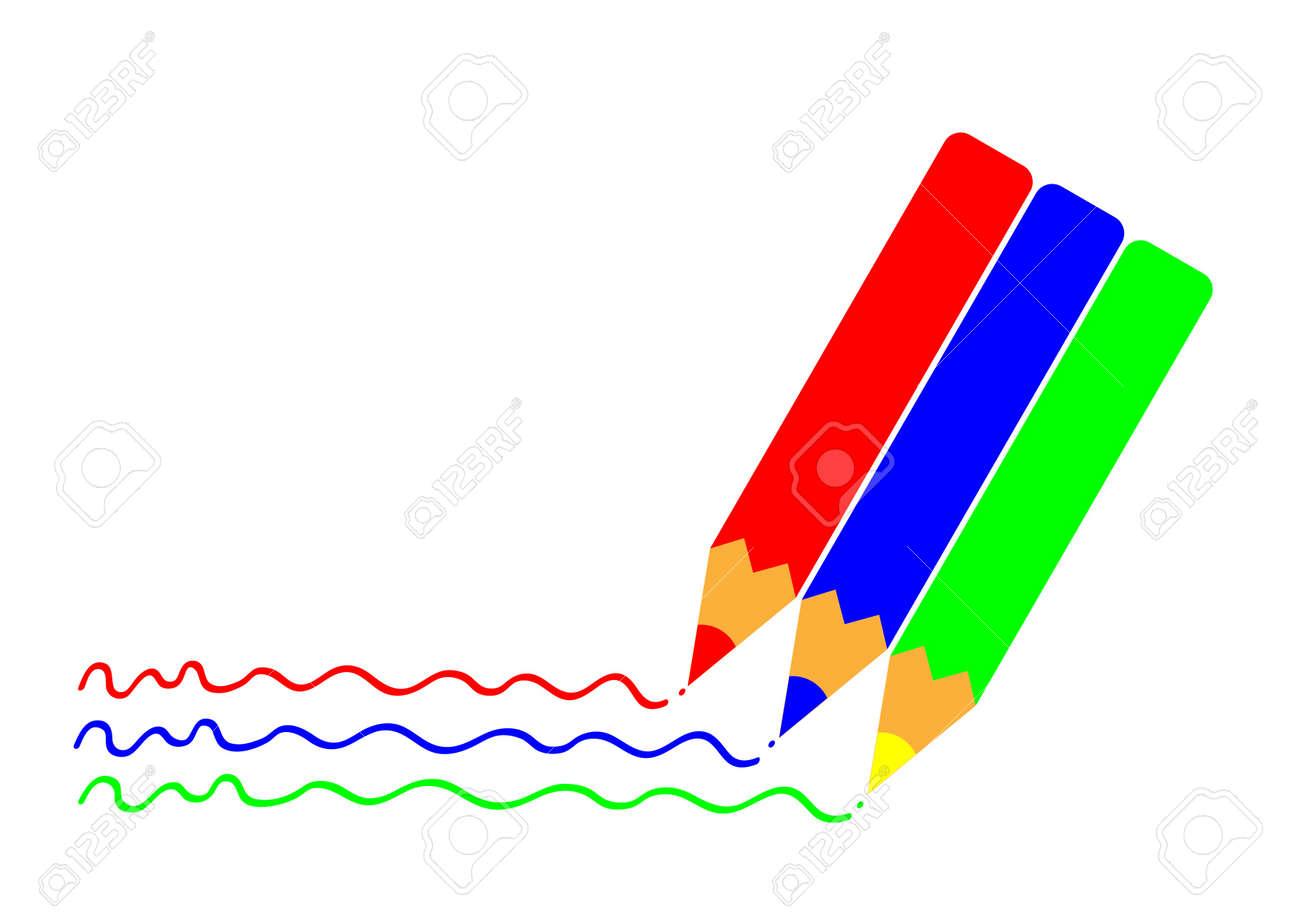 Dibujo A Lápiz De Color Dibujo A Lápiz Vector Ilustraciones