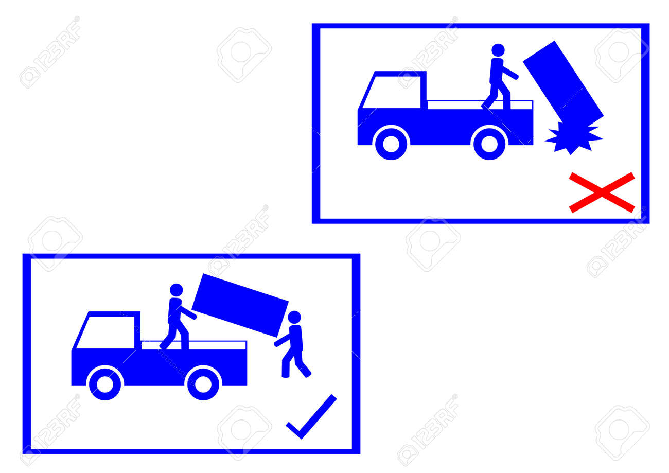 warning sign on the box Stock Vector - 16060161