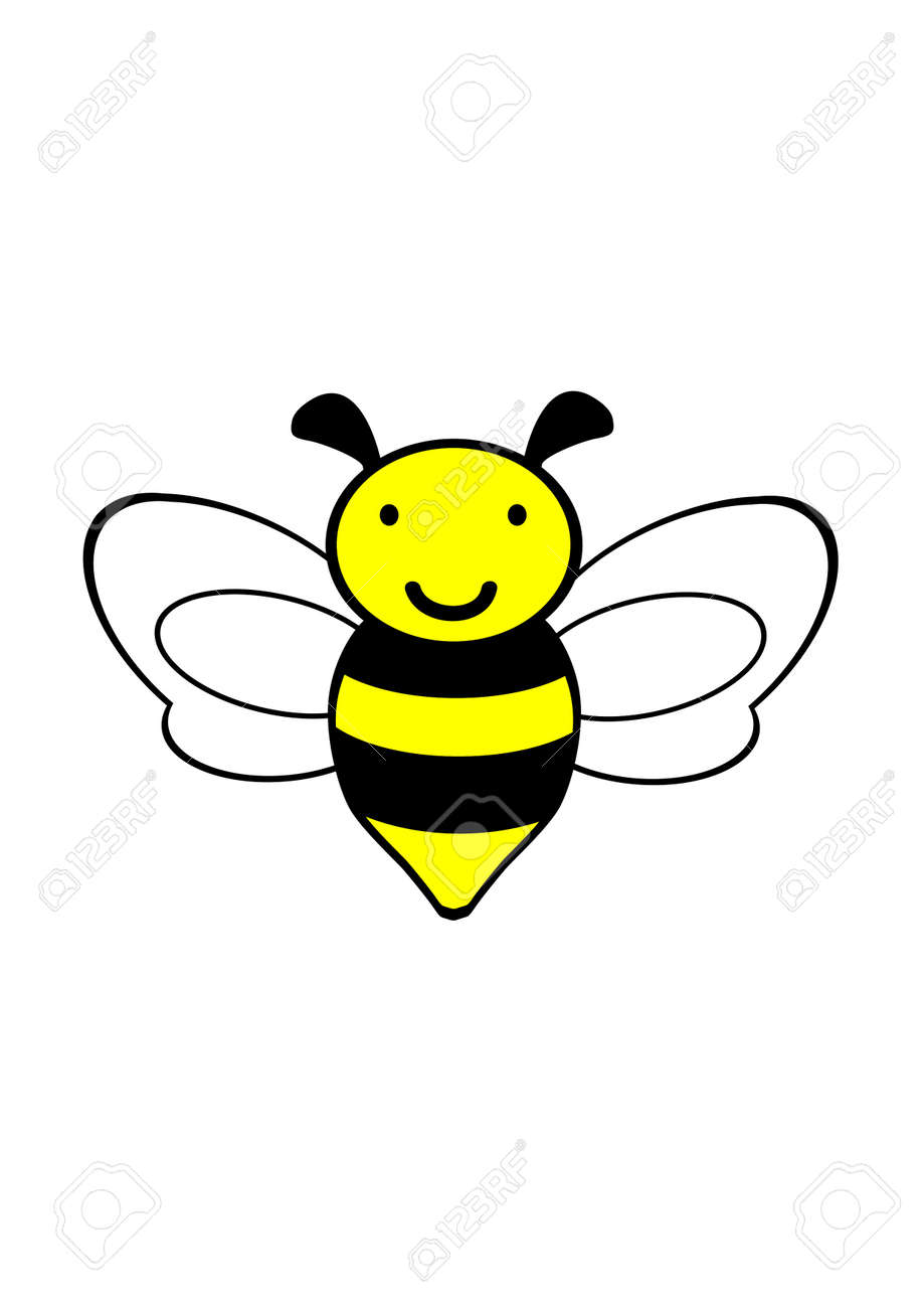 Bumble bee bee icon vector bee drawing illustration