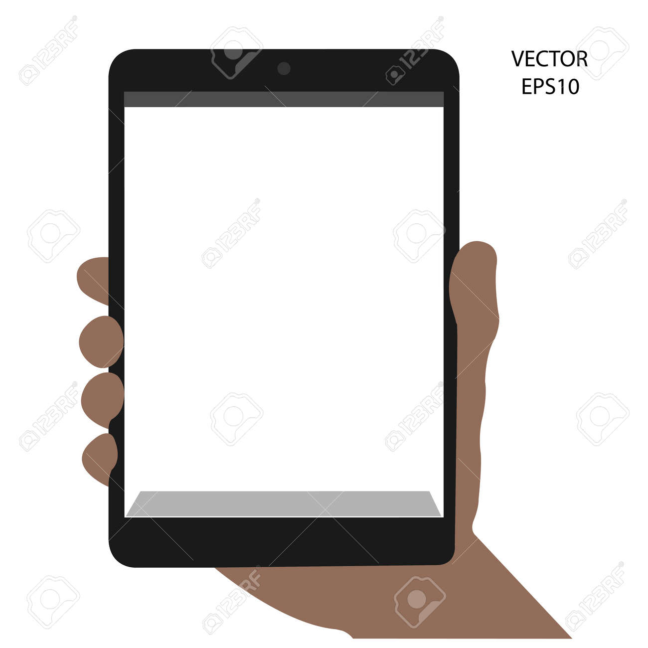 tablet on hand outline,smart phone on hand outline, tablet drawing,smart phone drawing,tablet symbol,smart phone symbol, vector Stock Vector - 18138942