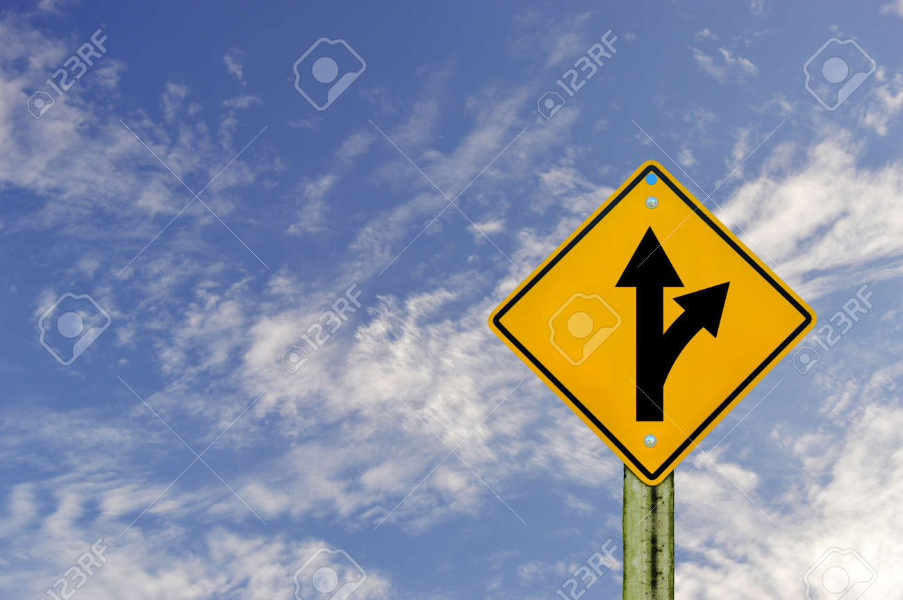 sign road on board with sky background,abstract sign,business symbol Stock Photo - 18293523