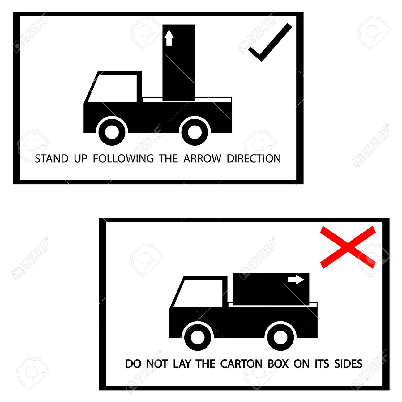 warning sign on the box Stock Vector - 18333813