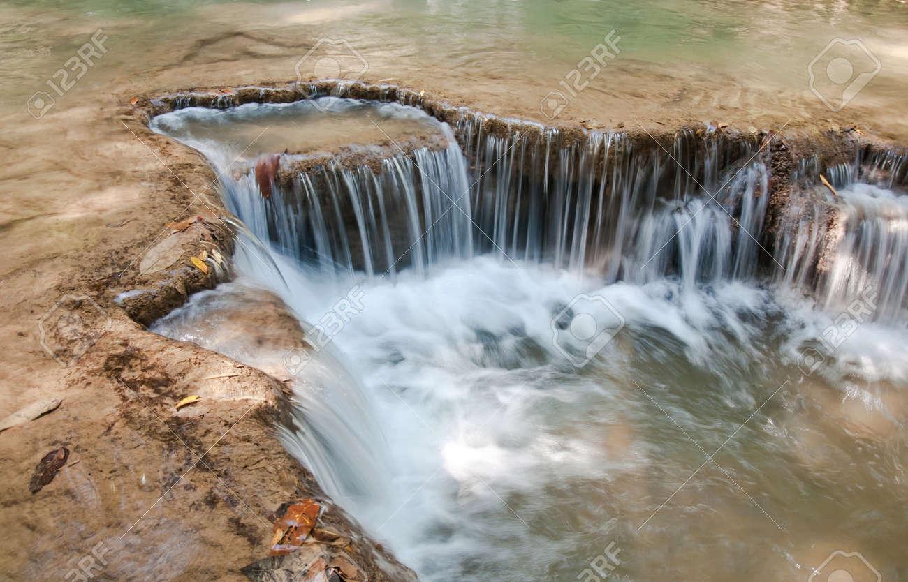 The Huai Mae Khamin Waterfall, Kanchanaburi, Thailand Stock Photo - 18403213