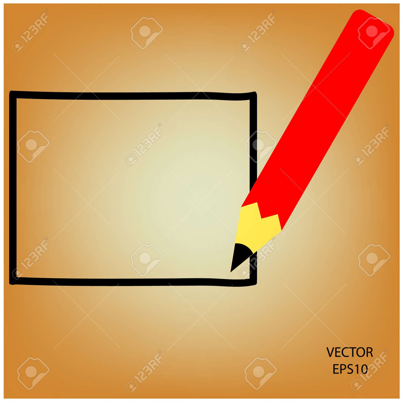 Drawing sketching by color pencil Stock Vector - 19124078