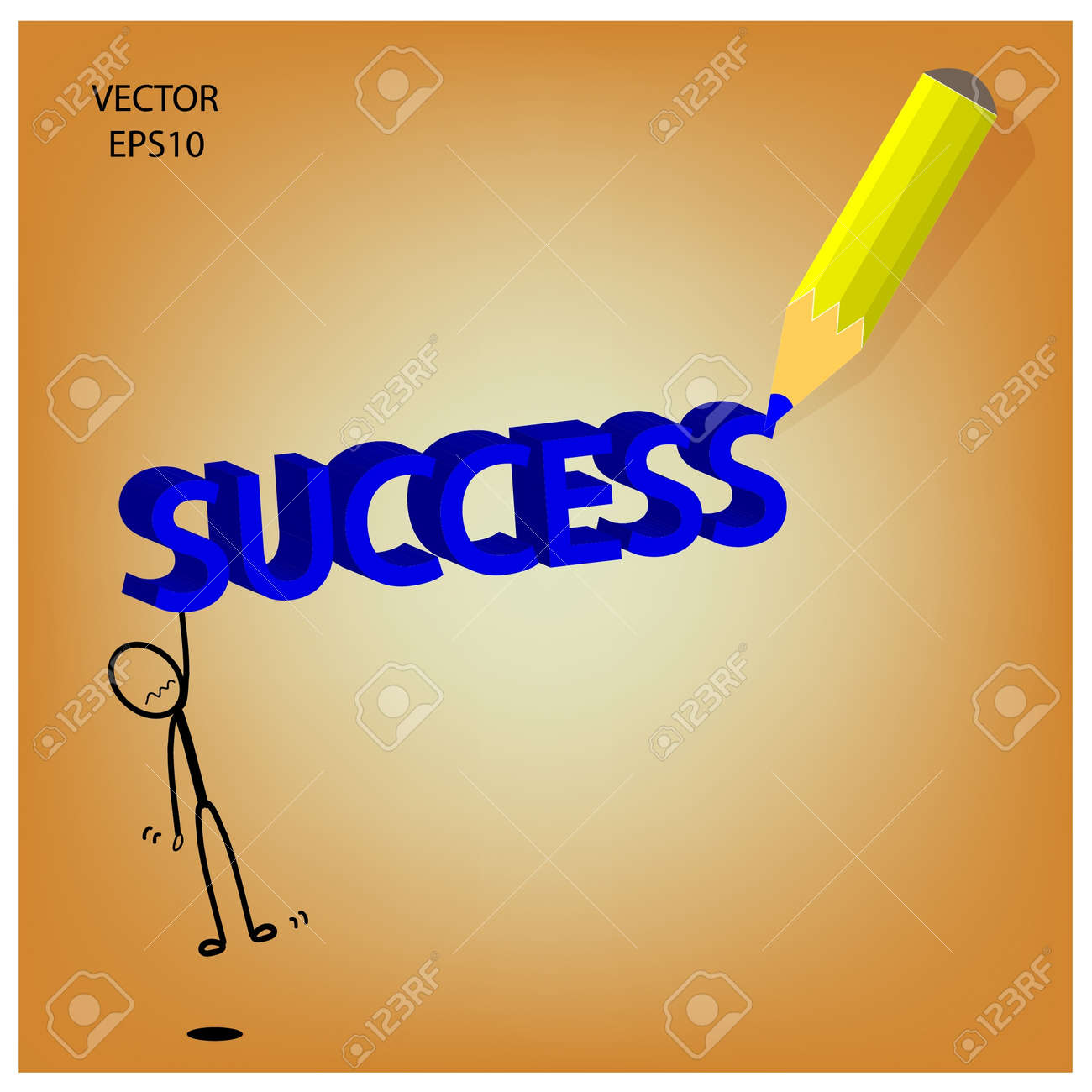 success word sketching by color pencil Stock Vector - 19124088