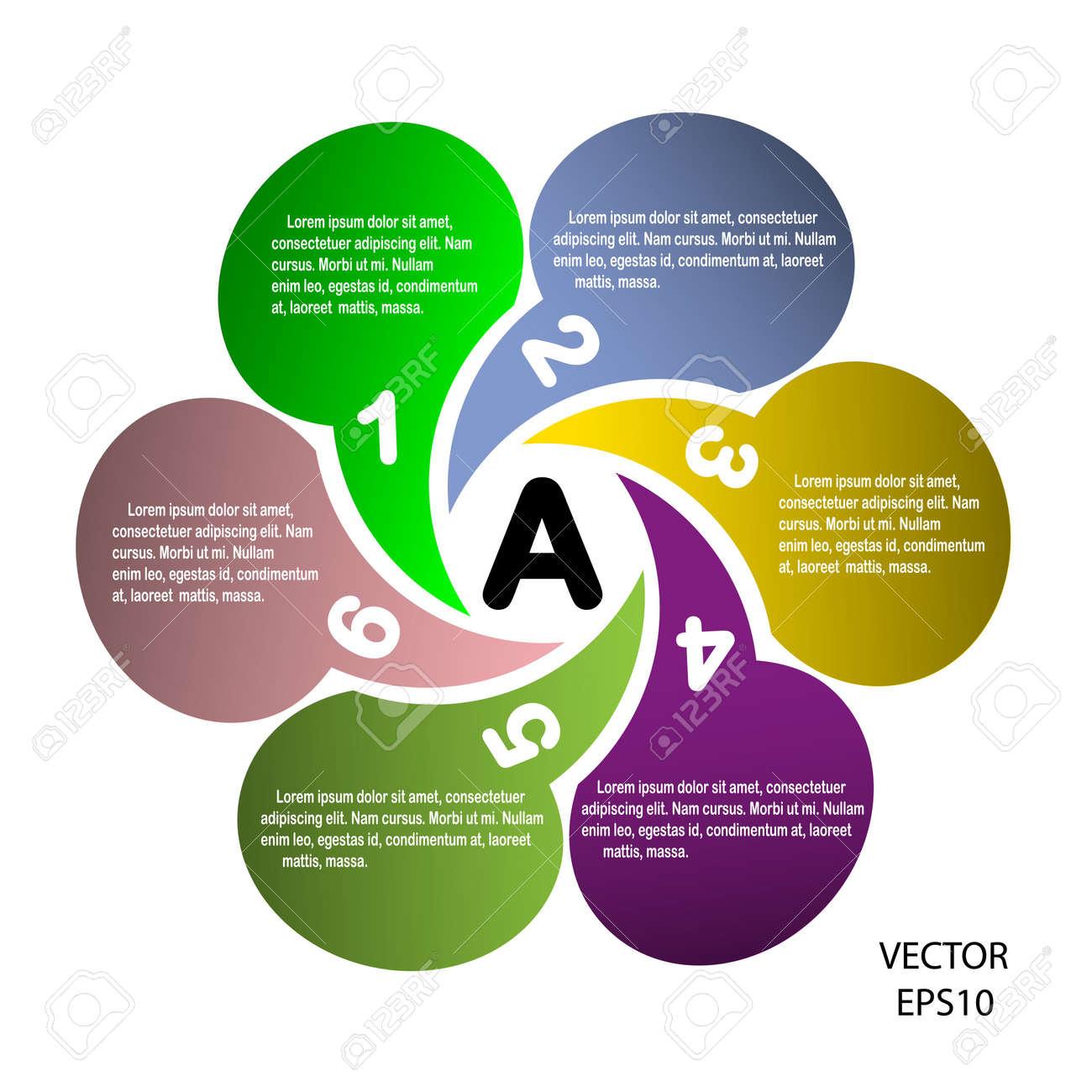 Concept of colorful circular banners ,texts box design  Vector Stock Vector - 20335317