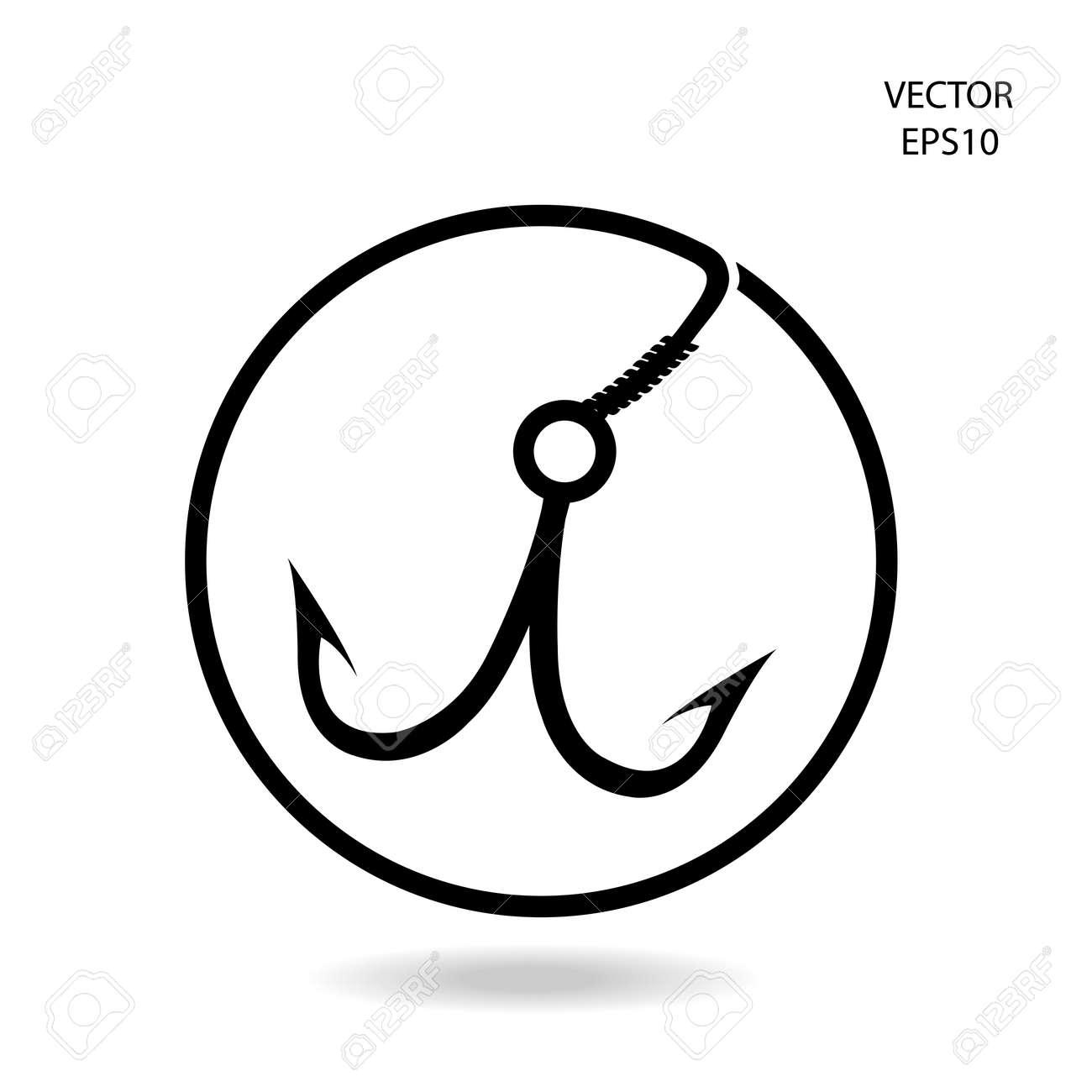 fishing hook icon Stock Vector - 22361512