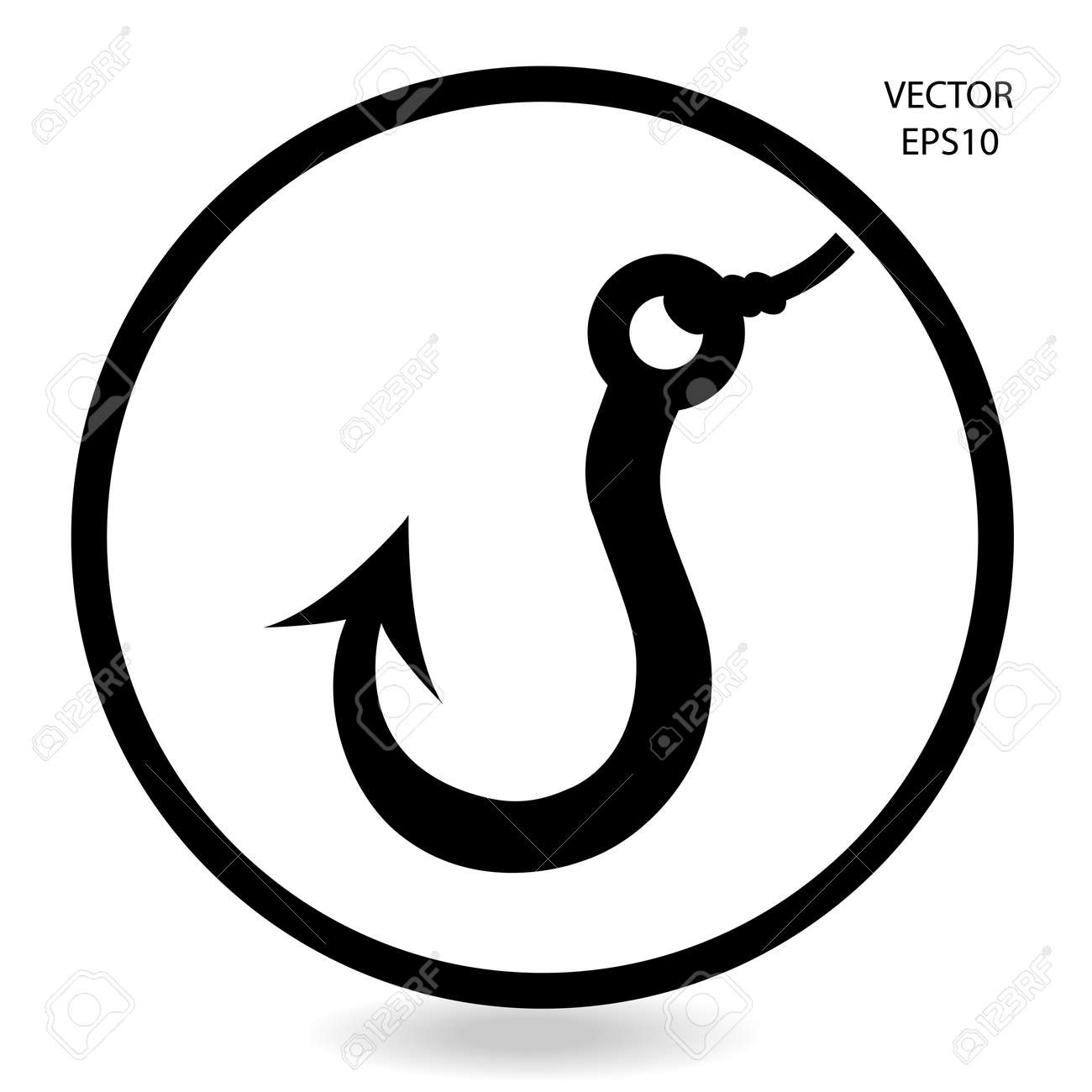 fishing hook icon Stock Vector - 22361514