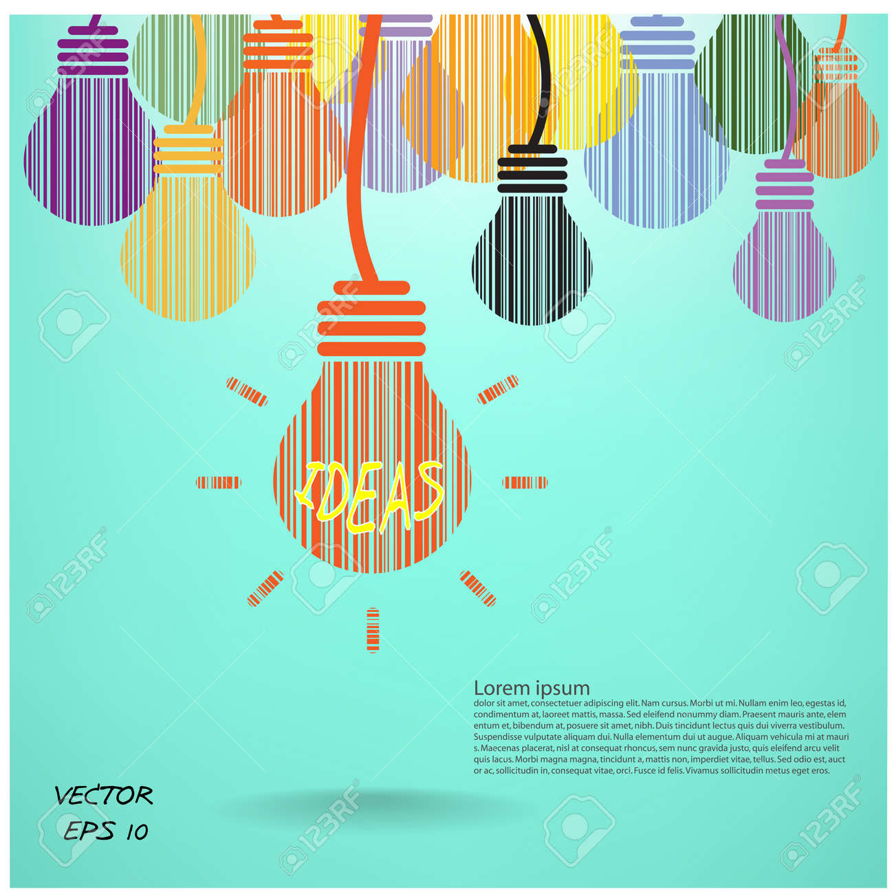 Creative light bulb, Business and ideas concepts,Vector illustration Stock Vector - 22798703