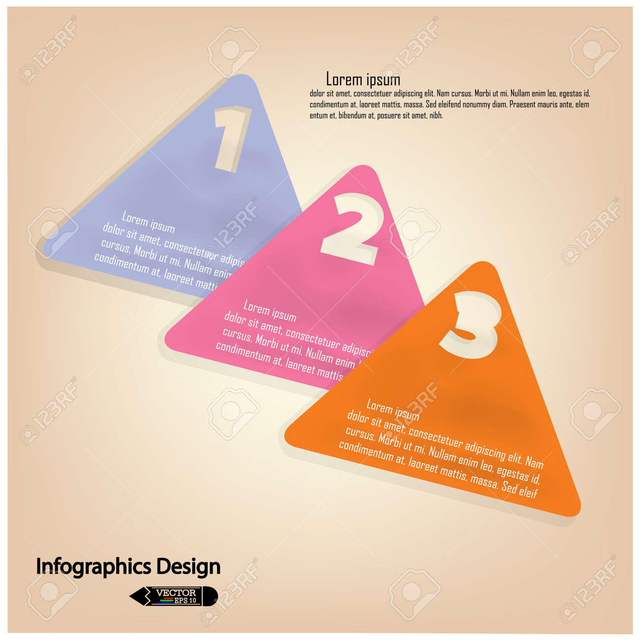 colorful presentation template with numbers and place for your text  Vector illustration Stock Vector - 23263125