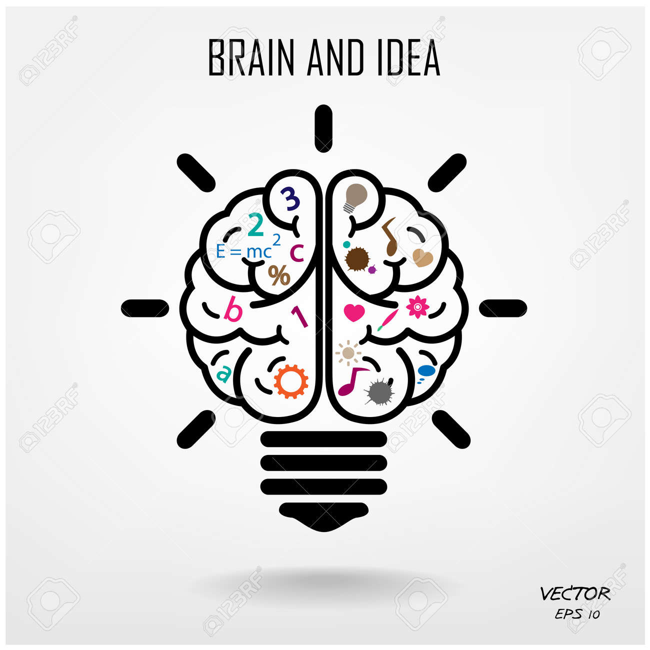 Creative brain Idea concept background design Stock Vector - 25249086