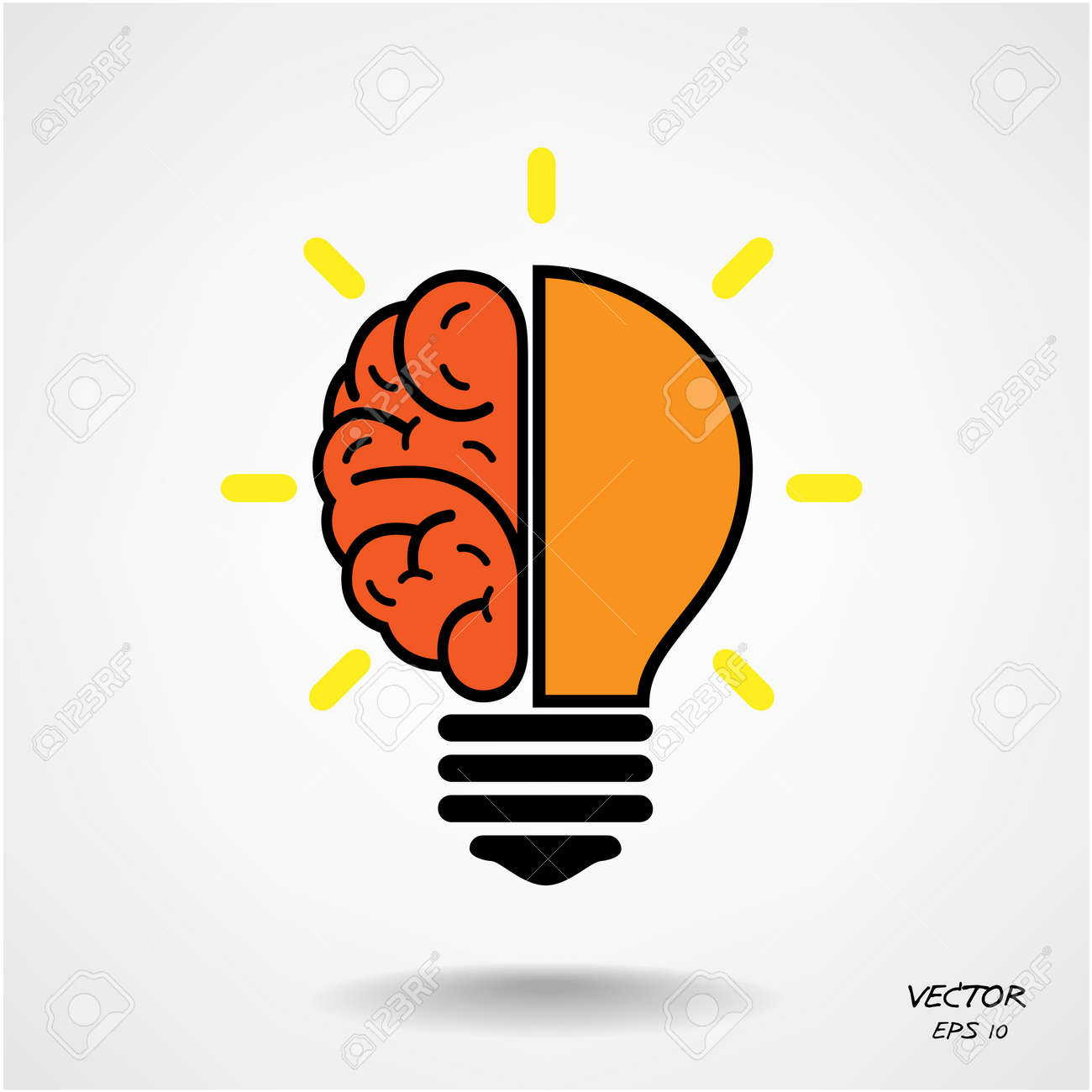Creative brain Idea concept background design Stock Vector - 25249091