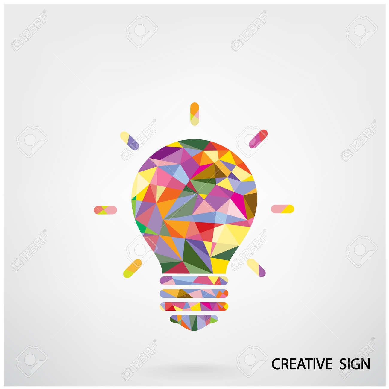 banque dimages color crateur ampoule ide concept design fond pour la brochure de couverture affiche flyer ide dentreprise fond abstrait - Ampoule Colore