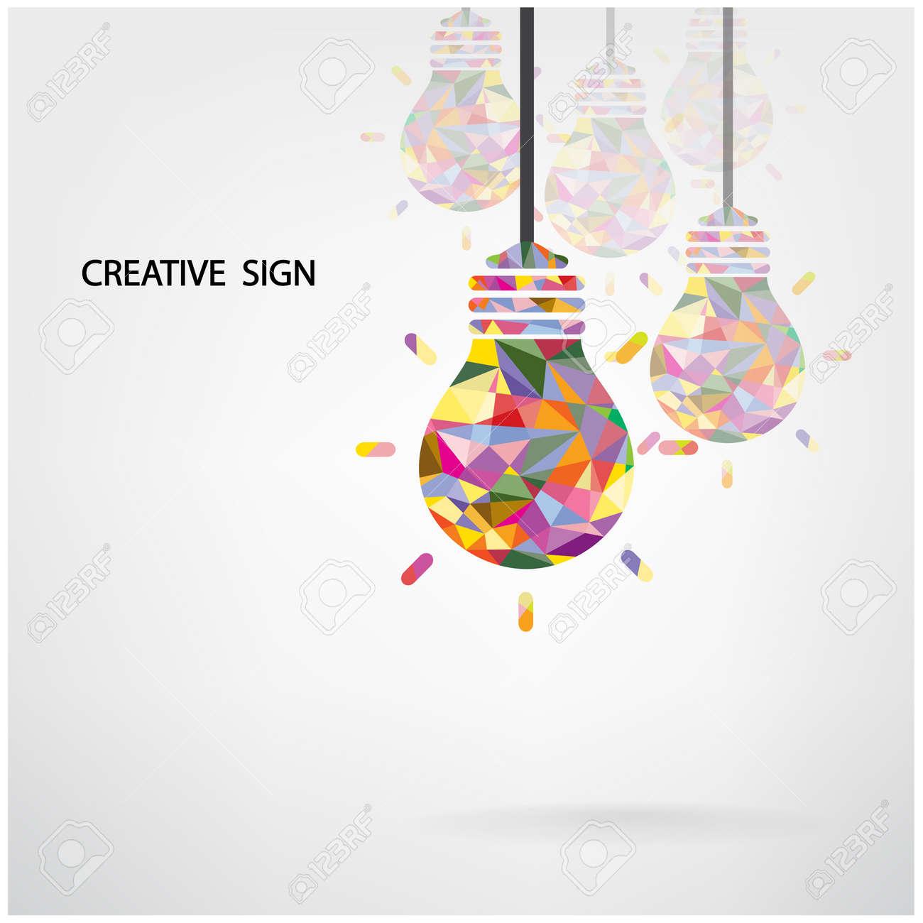 Très Creative Ampoule Idée Concept Design Fond Pour La Couverture  VB59