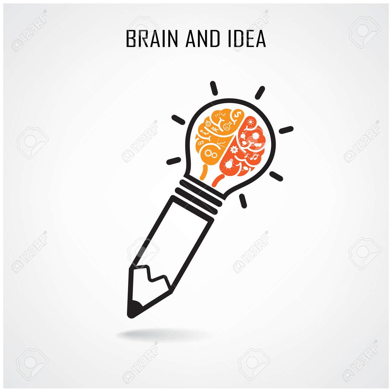 creative brain idea concept background design for poster flyer cover brochure business dea abstract idea - Idea Design