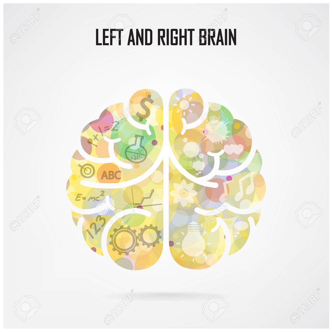創造的な脳のアイデア概念ポスター チラシ カバー パンフレット
