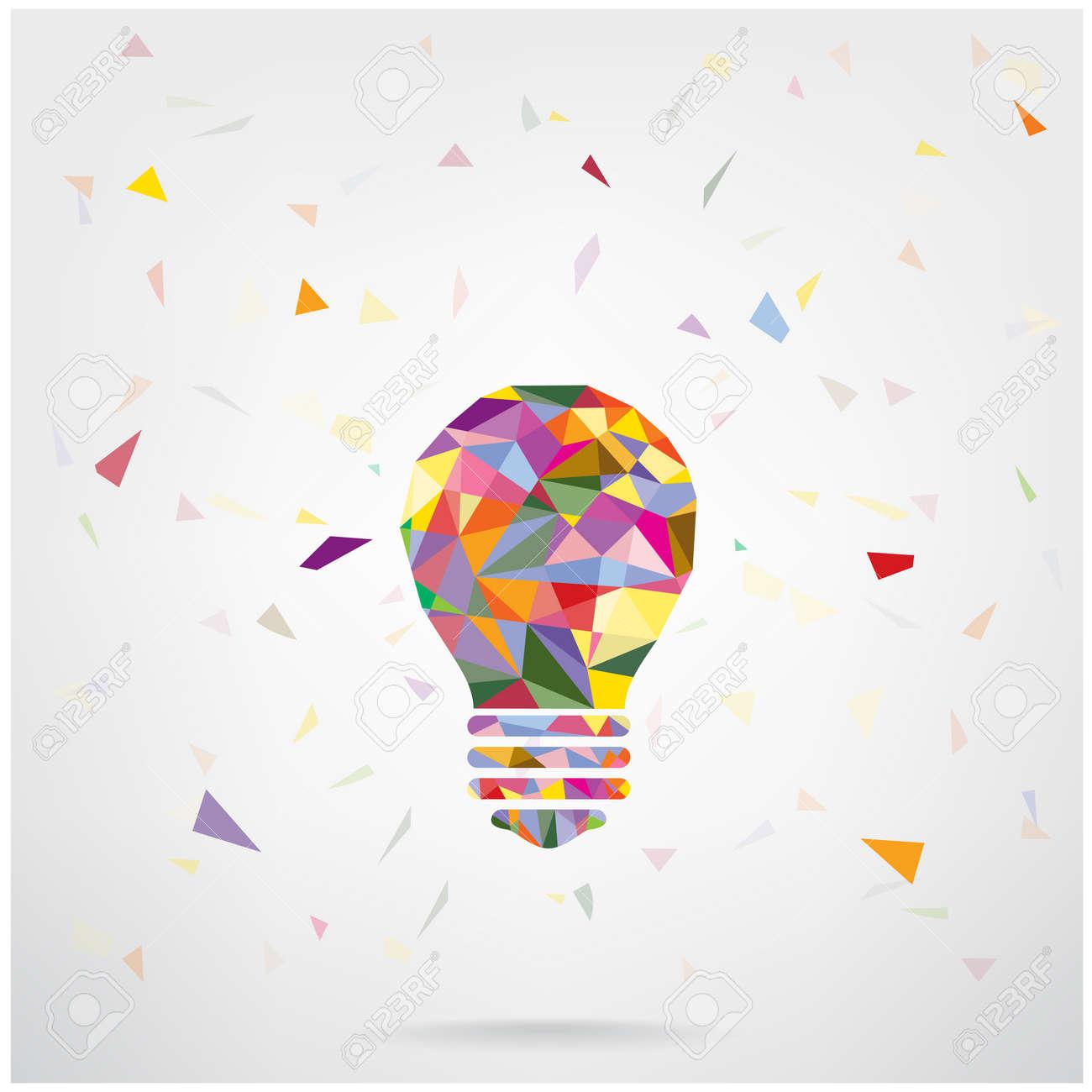 creative light bulb idea concept background design for poster