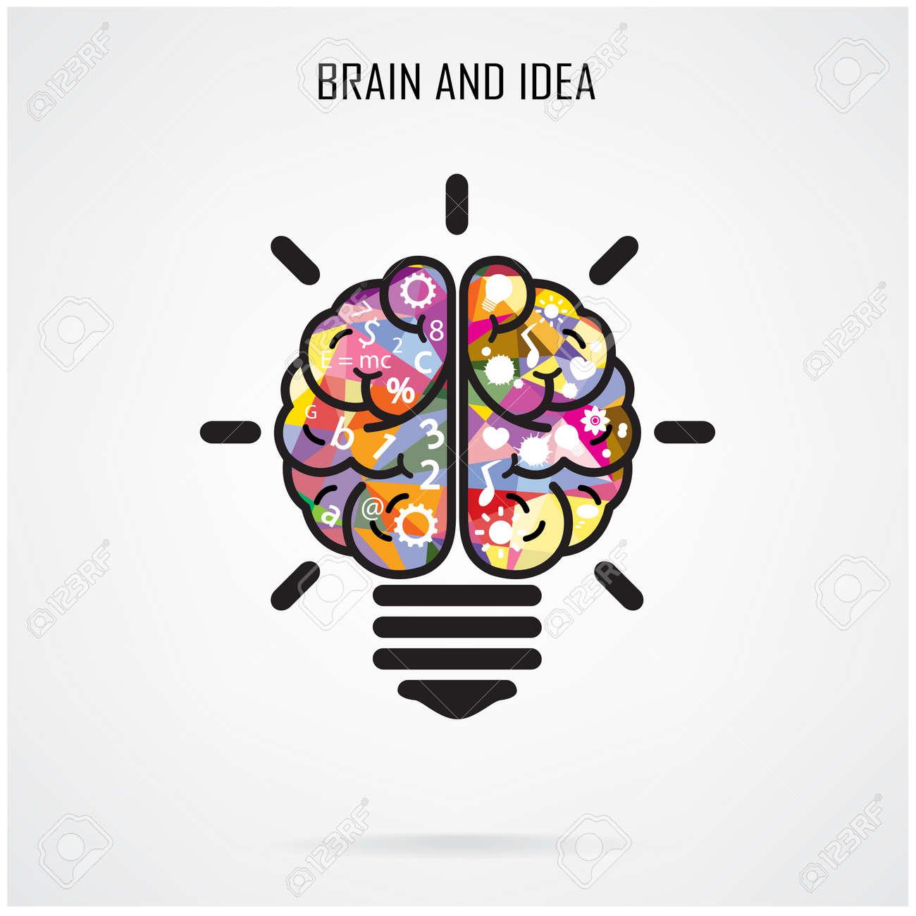 Creative Brain Idea And Light Bulb Concept Stock Vector   29030252