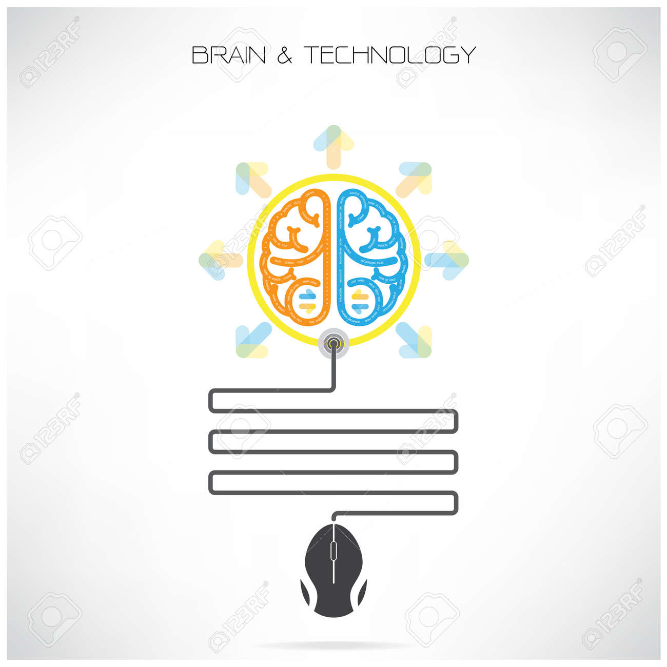 Creative brain symbol with computer mouse sign on background royalty creative brain symbol with computer mouse sign on background stock vector 29030267 biocorpaavc Images