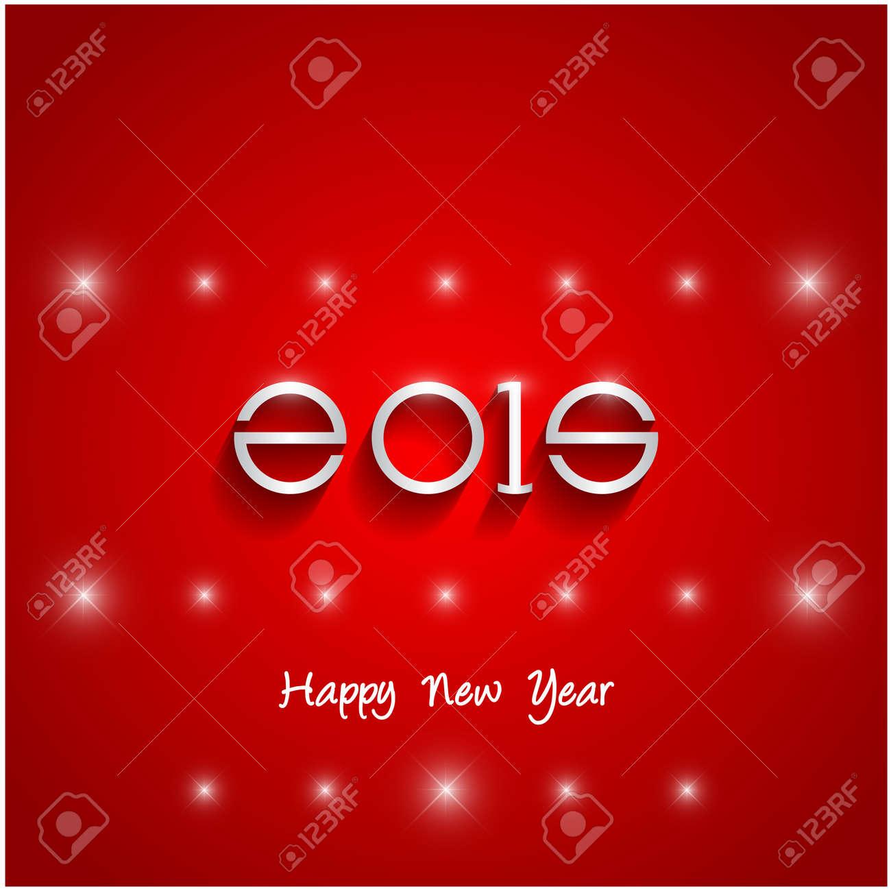 Happy new year 2015 creative greeting card design in flat style happy new year 2015 creative greeting card design in flat style with long shadow vector m4hsunfo