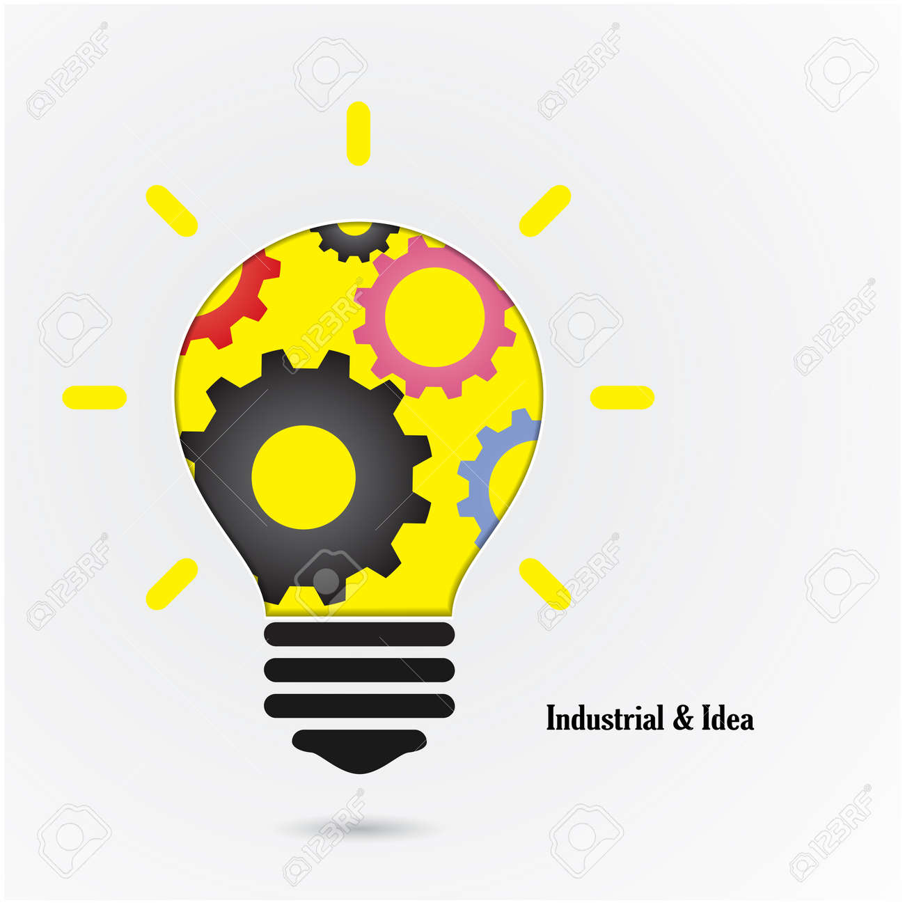 creative light bulb idea concept background design for poster flyer cover brochure education and