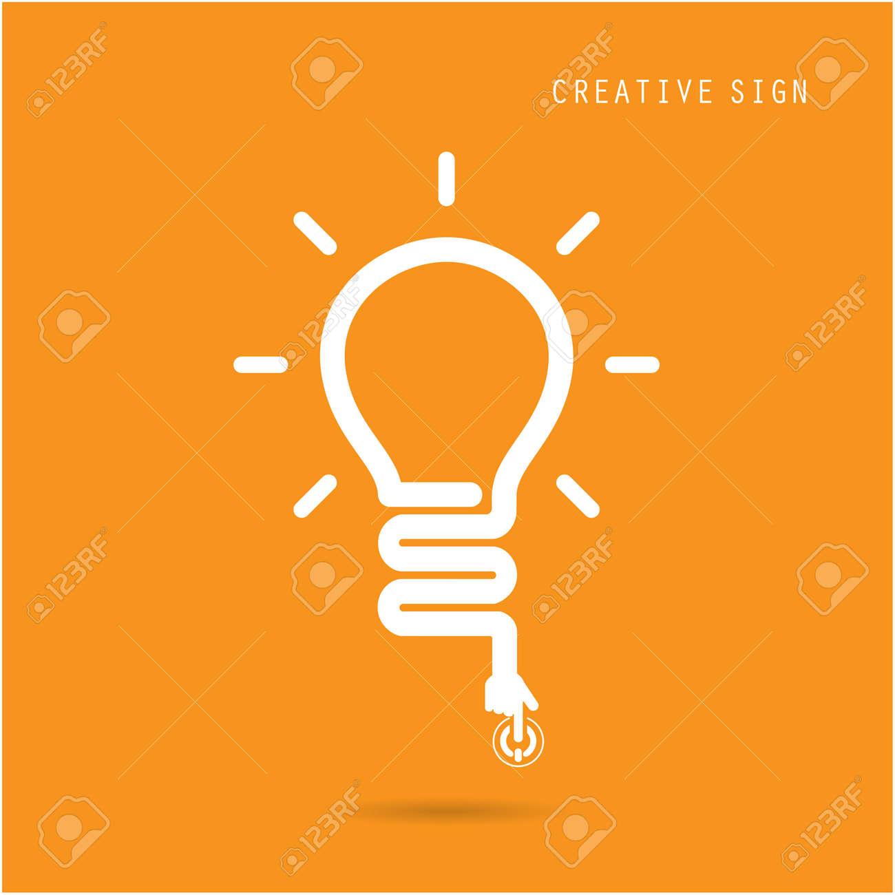 Creative light bulb concept, design for poster flyer cover brochure, business idea, education concept.vector illustration - 36115067