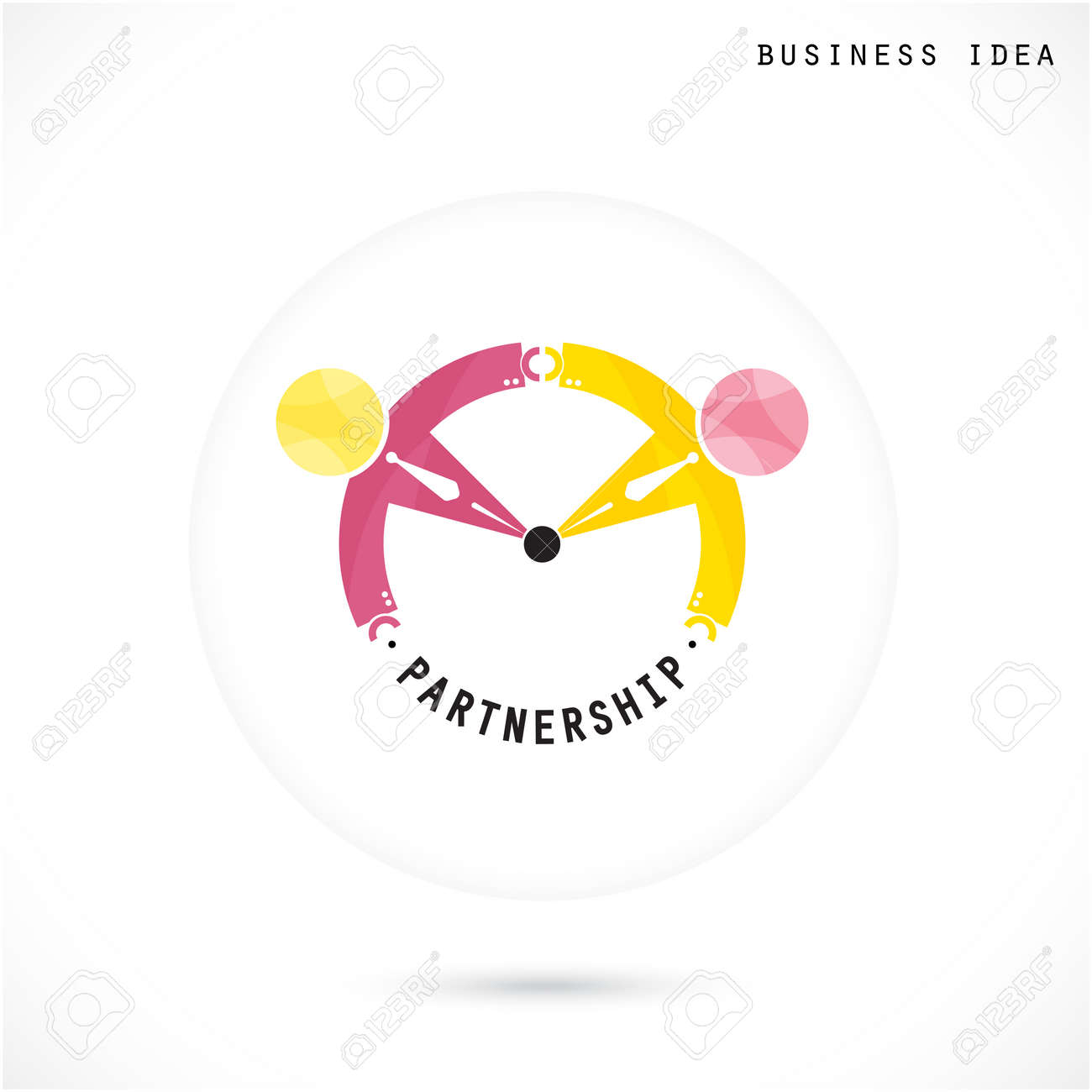 Team Partners Friends Sign Design Vector Template. Together Union ...